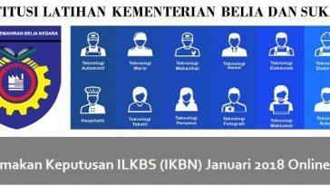 Semakan Keputusan ILKBS (IKBN) Januari 2018 Online