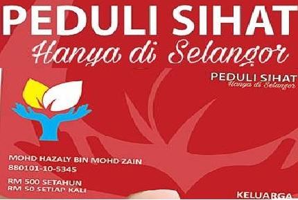 Permohonan Kad Peduli Sihat Selangor Online